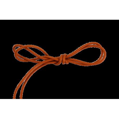 Lacet cuir rond 2 mm orange