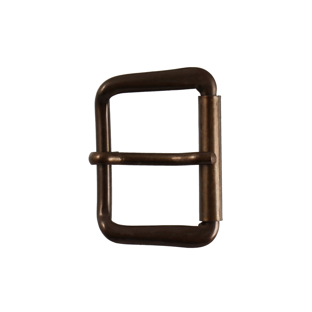 Boucle de ceinture V05 35 mm or vieilli