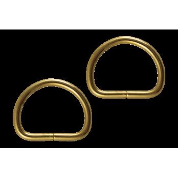Demi anneau vintage doré x2