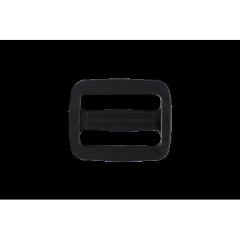 Boucle de réglage plastique noir 25 mm
