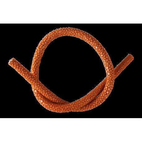Cordon en cuir de Galuchat orange