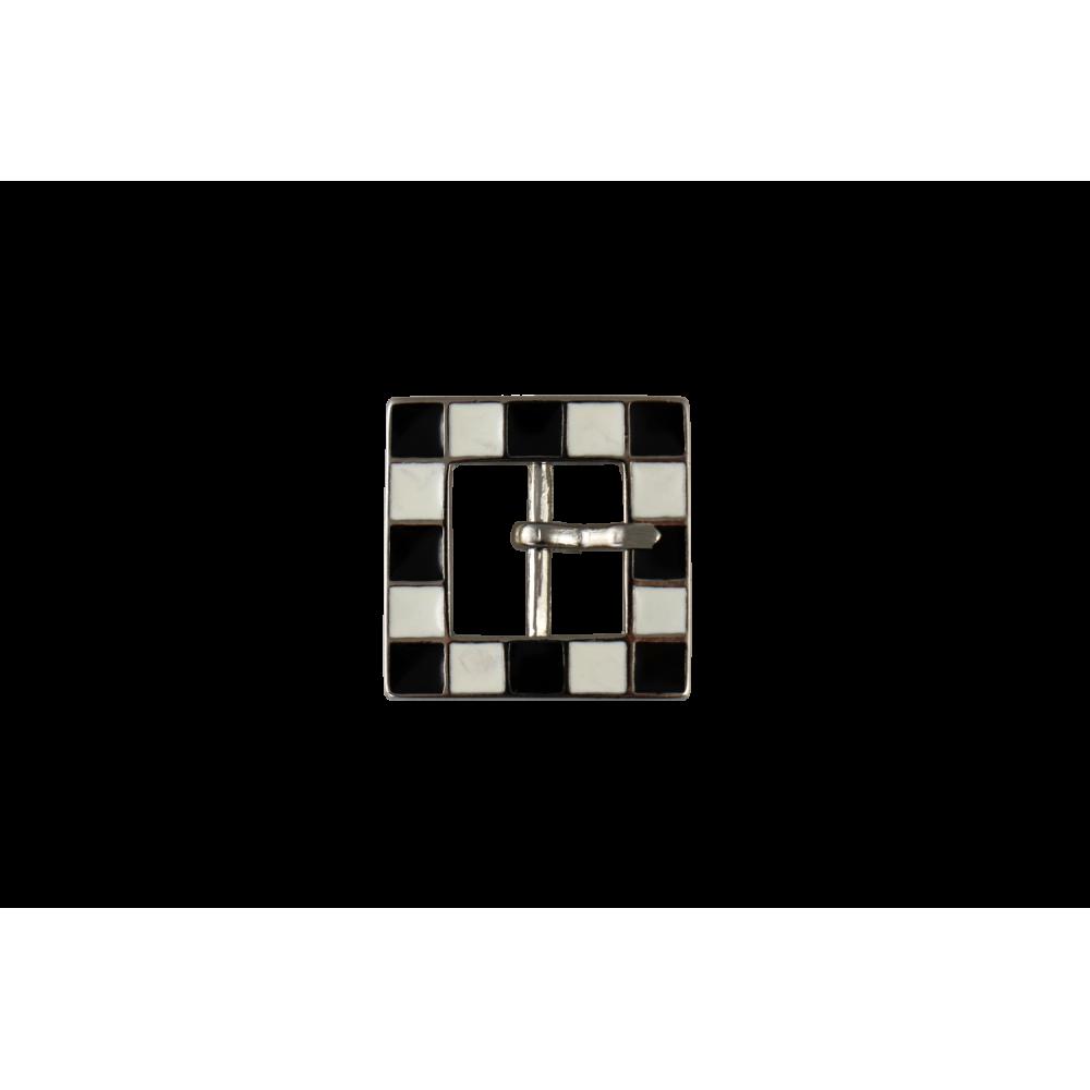 Boucle de ceinture carrée à damier 12 mm