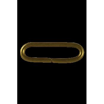Passant métallique doré 40 mm