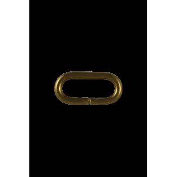 Passant métallique doré 25 mm