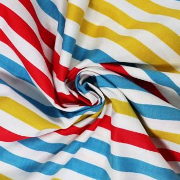 Tissu rayé Touquet multicolore