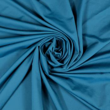Tissu jersey uni bleu canard