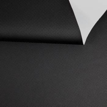 Simili cuir effet perforé noir 150 cm