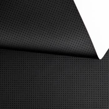 Simili cuir effet perforé carré noir
