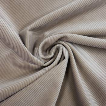 Tissu velours côtelé beige