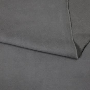 Tissu suédine de coton gris