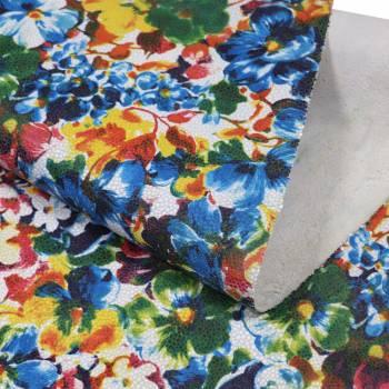 Bande de veau Majorelle multicolore
