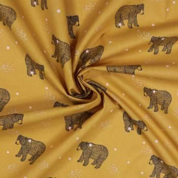 Tissu coton Baloo Or