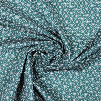 Tissu coton Fuji Emeraude