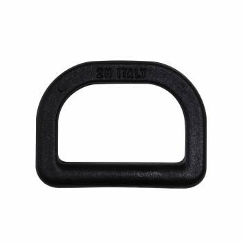 Demi anneau plastique noir 30 mm