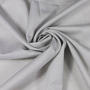 Tissu piqué de coton gris