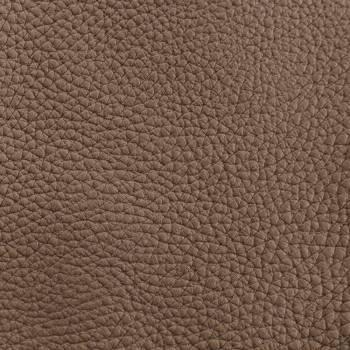 Chutes de cuir de Taurillon grainé taupe