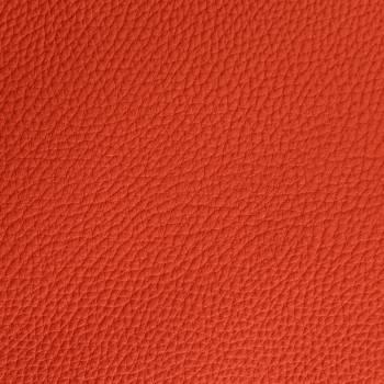 Chutes de cuir de Taurillon grainé orange