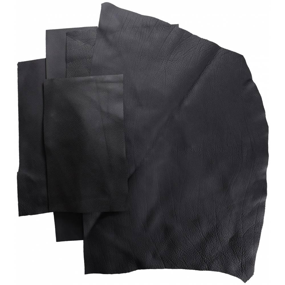 Chutes de cuir de Taurillon grainé noir