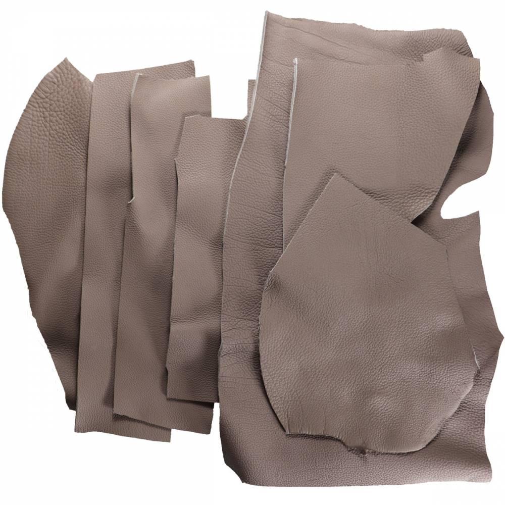 Chutes de cuir de Taurillon grainé gris