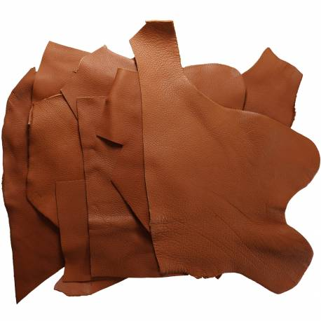 Chutes de cuir de Taurillon grainé gold