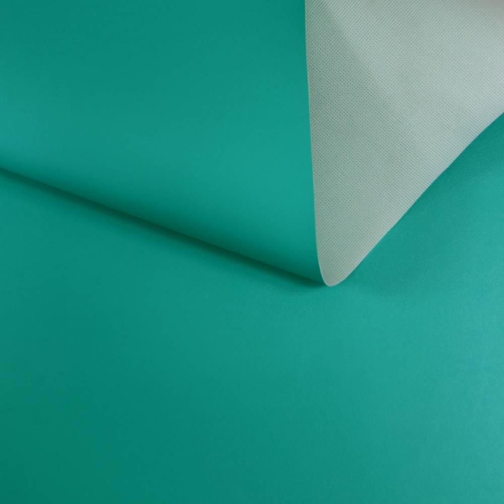 Coupon simili cuir bleu turquoise