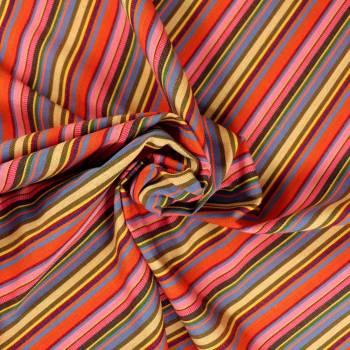 Tissu rayé multicolore Mexico