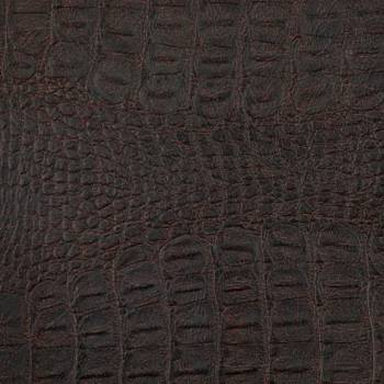Simili cuir imitation croco marron