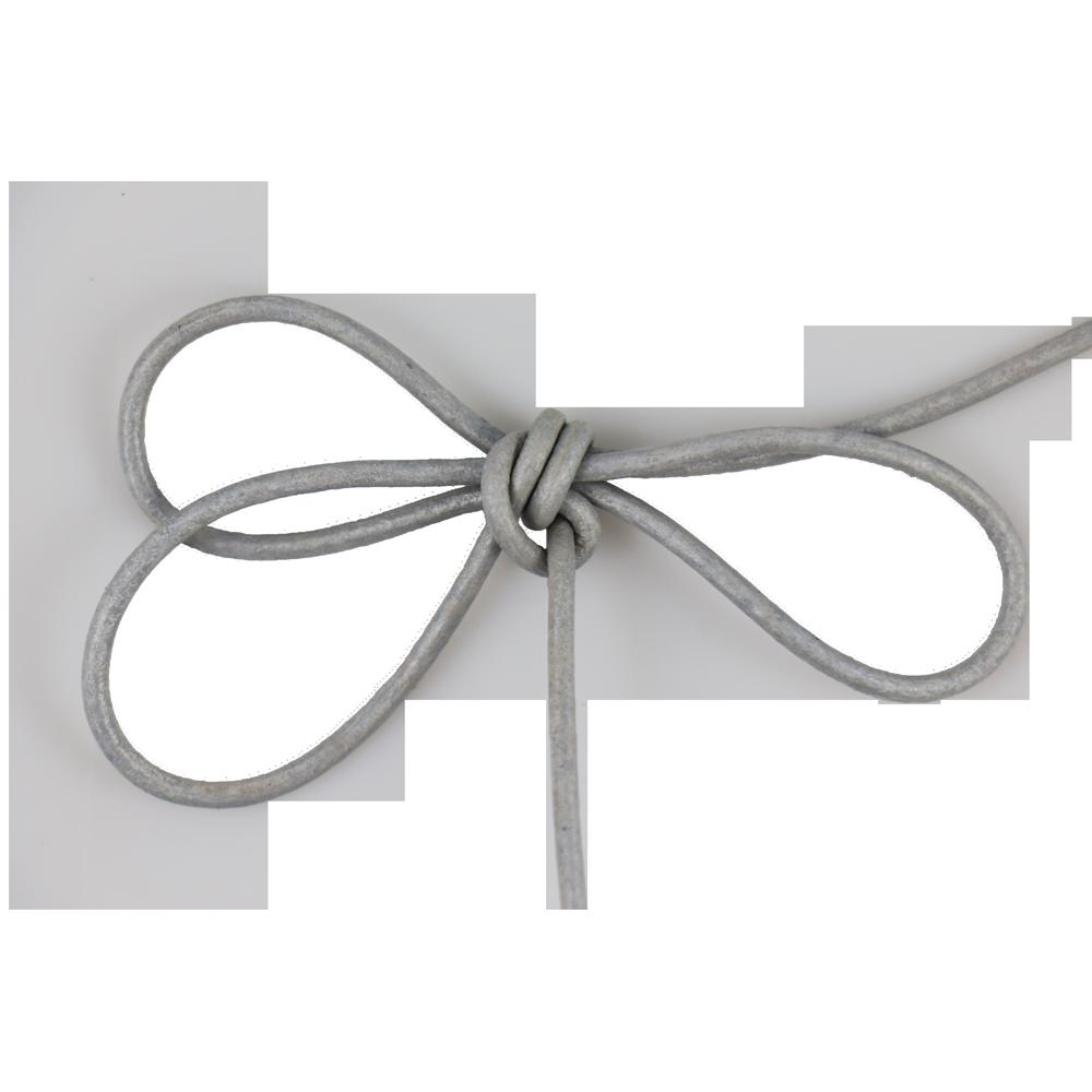 Lacet cuir rond 2 mm gris