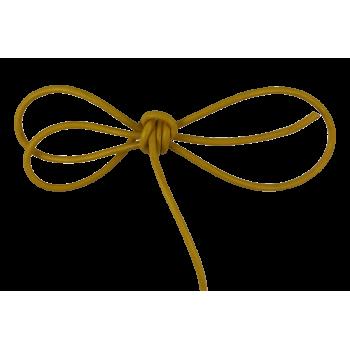 Lacet cuir rond 2 mm jaune