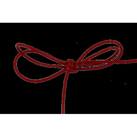 Lacet cuir rond 2 mm rouge
