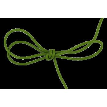 Lacet cuir rond 2 mm vert pomme