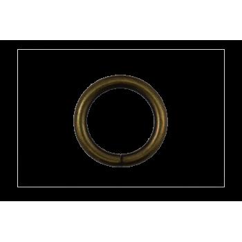 x2 Anneau rond 25 mm Or vieilli