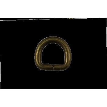 x2 Demi-anneau 16 mm Or vieilli